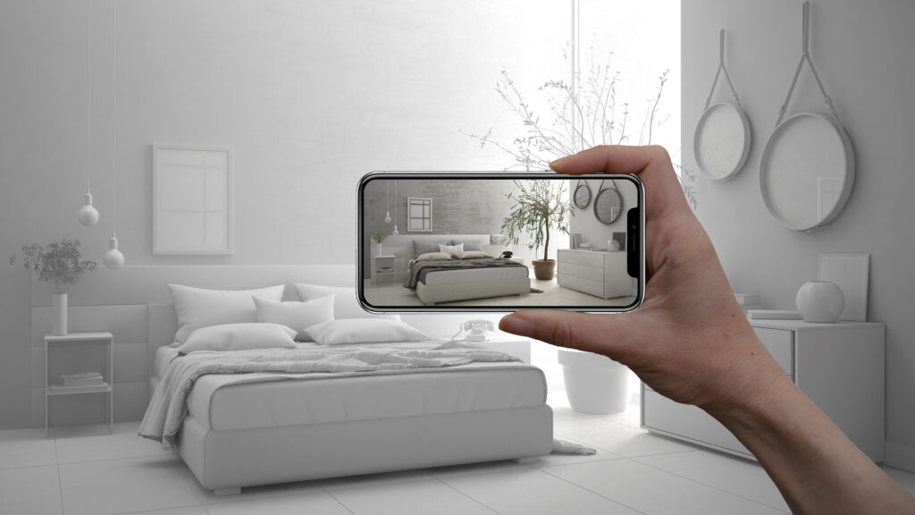 augmented reality shopping with smart phone,