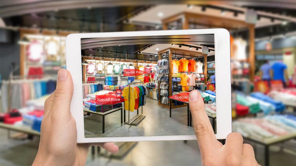 AR, ipad shopping, video marketing with AR